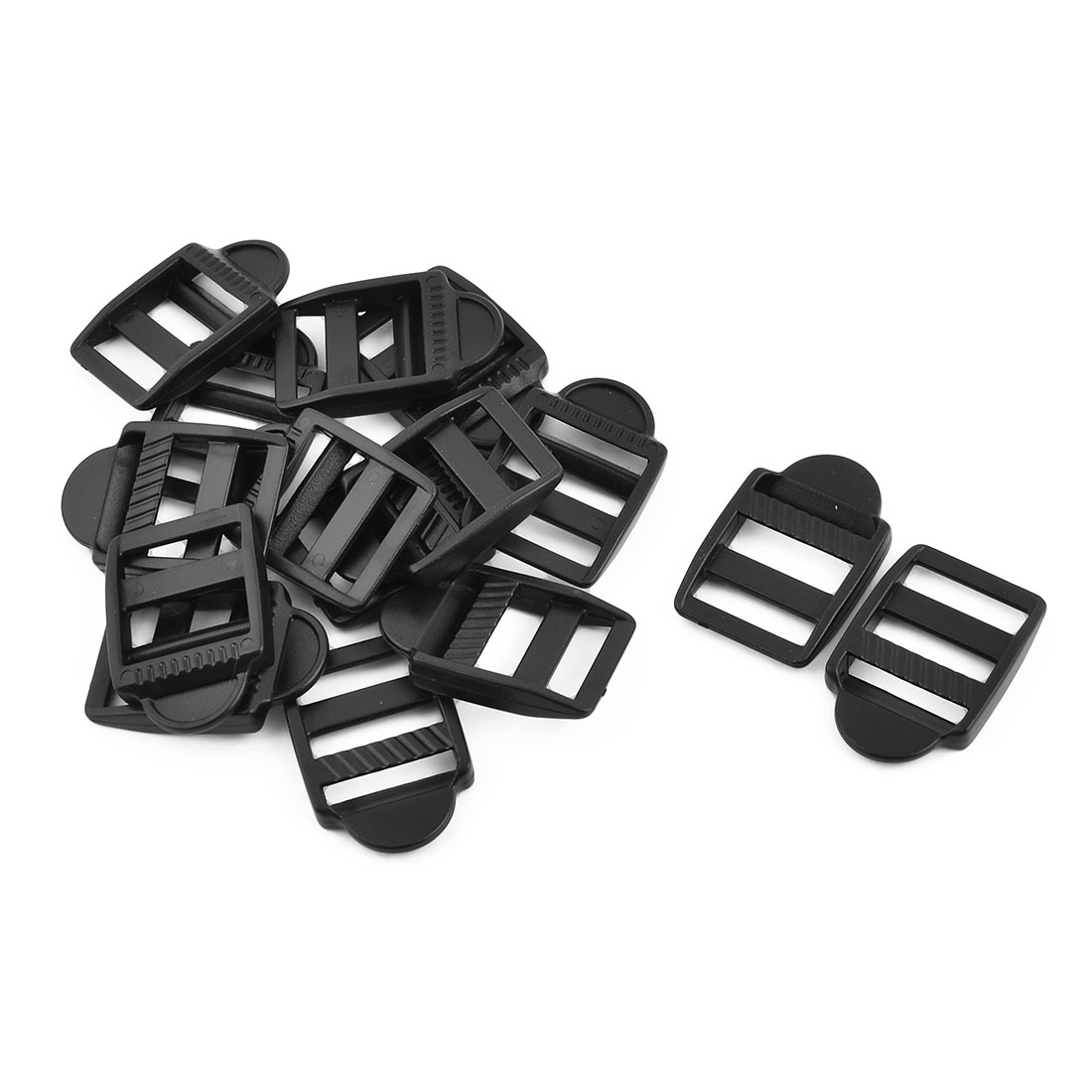 Plastic Suitcase Bag Belt Connecting Ladder Lock Fastener Buckle 20mm Strap Width 15pcs