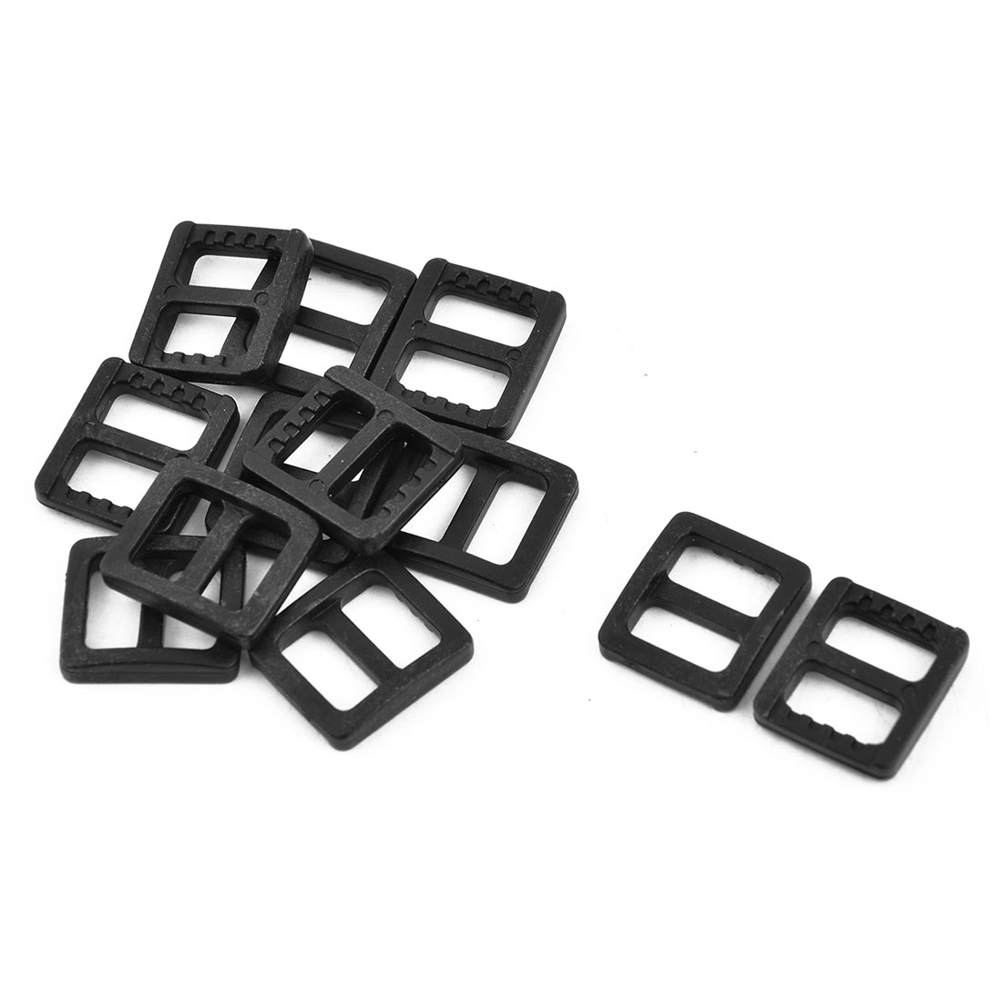 Schoolbag Webbing Plastic Adjustable Ladder Lock Fastener Buckle 10mm Strap Width 12pcs
