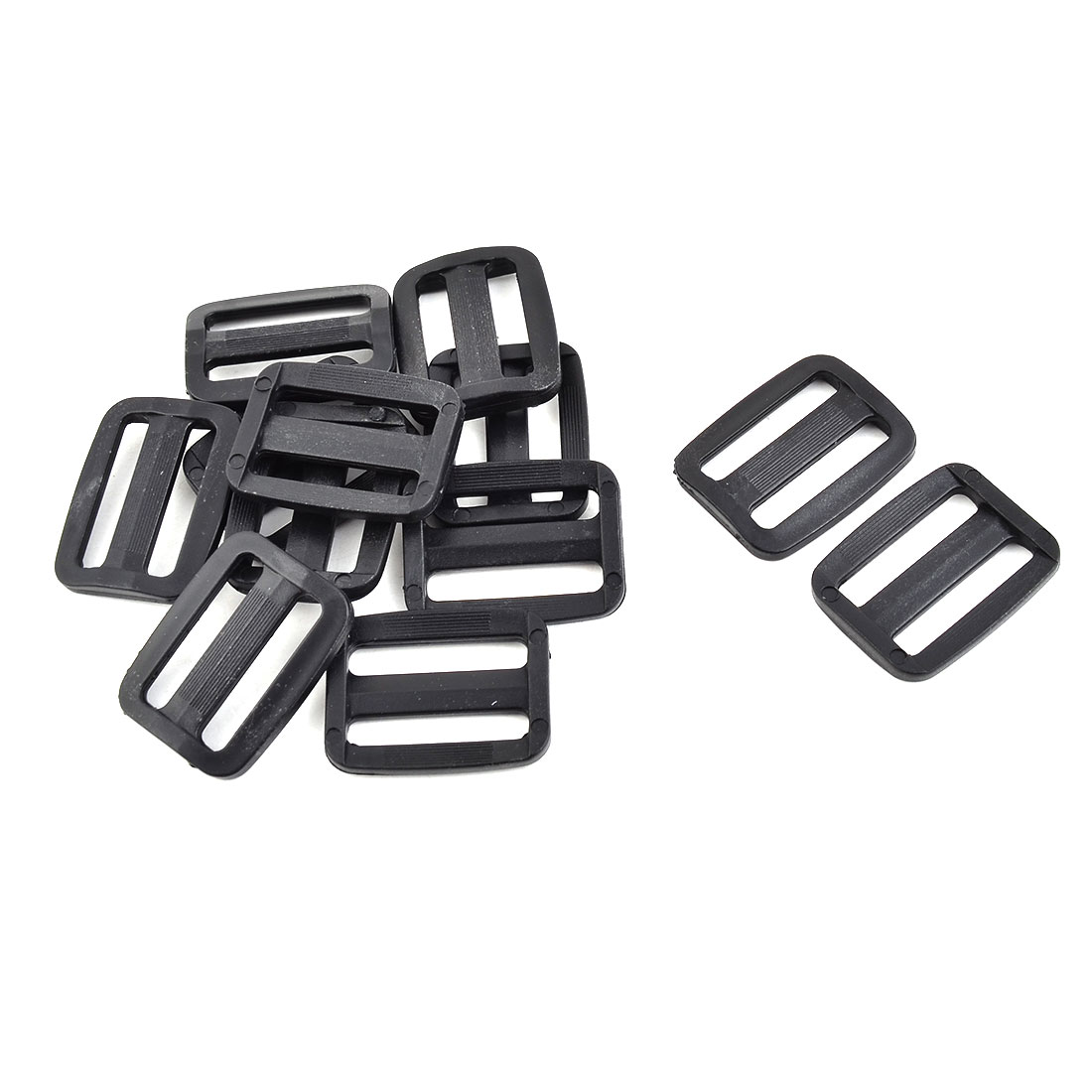 Camping Plastic Adjustive Rectangle Luggage Bag Connecting Tri Glide Fastener Buckle 12pcs