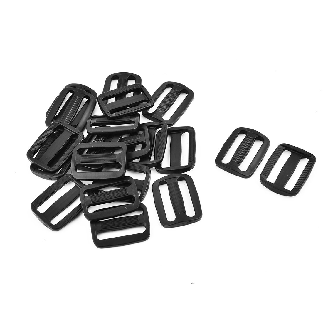 Plastic Adjustable Backpack Bag Belt Tri Glide Buckle 38mm Strap Width 20 Pcs