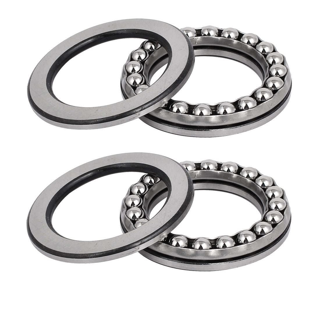 40mmx60mmx13mm Single Row Thrust Ball Bearing 51108 2pcs