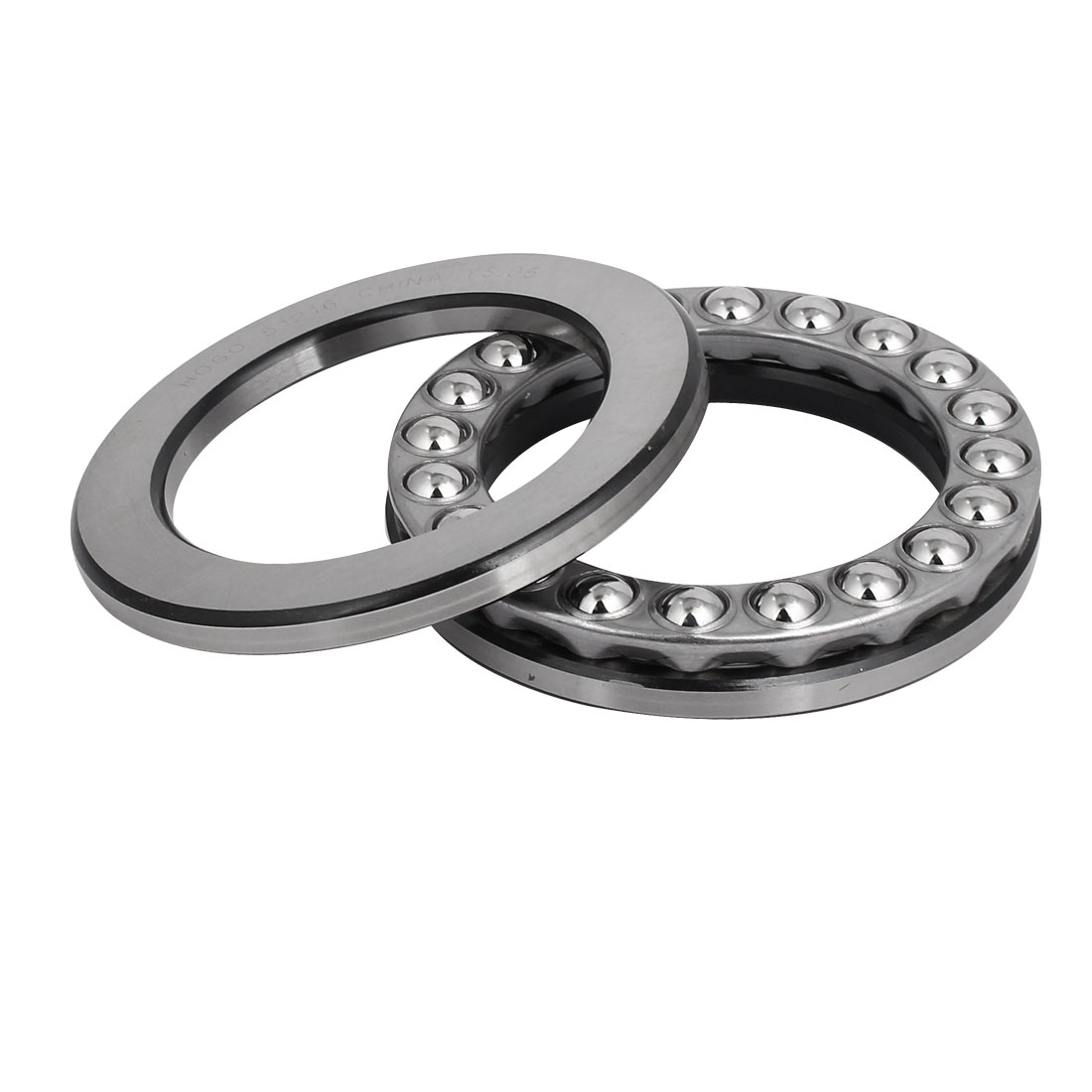 115mmx80mmx28mm Single Row Thrust Ball Bearing Silver Gray 51216