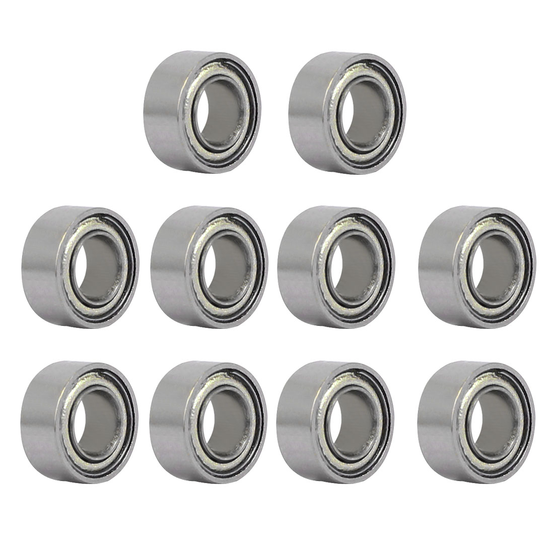 MR63ZZ 6mmx3mmx2.5mm Single Row Double Shielded Deep Groove Ball Bearings 10pcs