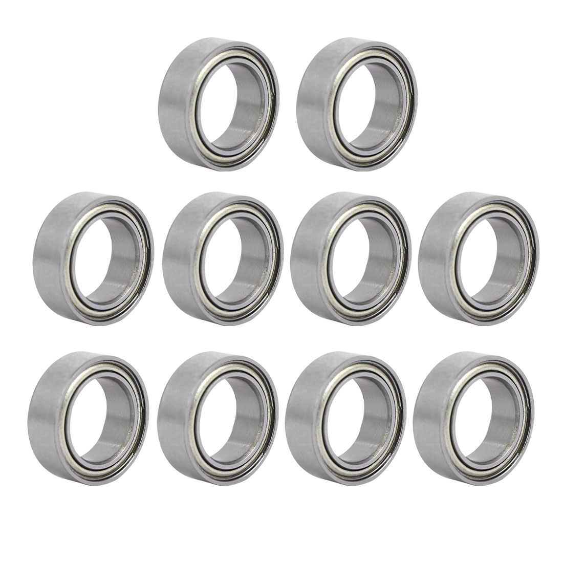 MR149ZZ 14mmx10mmx4.5mm Single Row Double Shielded Deep Groove Ball Bearings 10pcs
