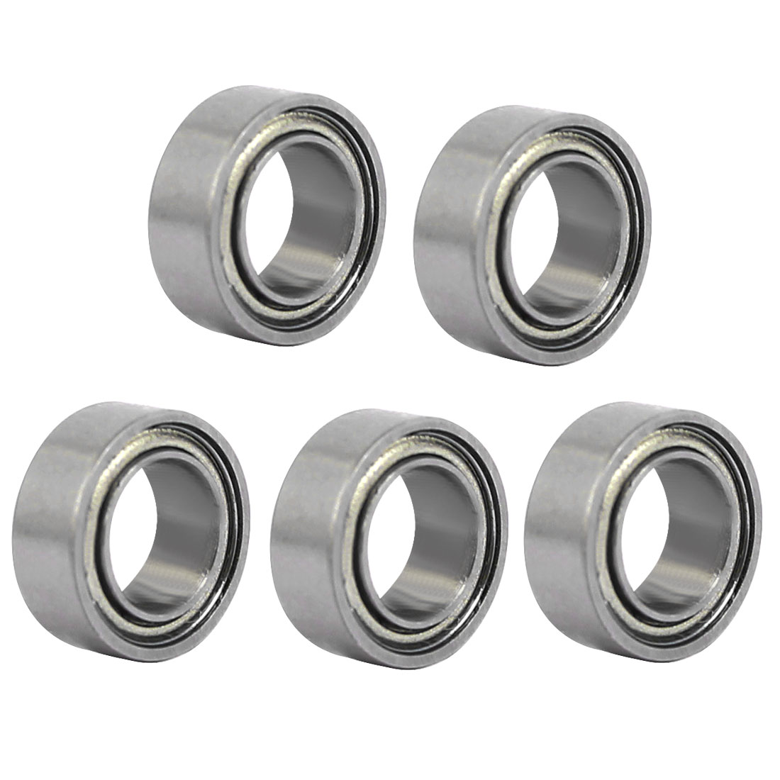 MR74ZZ 7mmx4mmx2.5mm Single Row Double Shielded Deep Groove Ball Bearings 5pcs