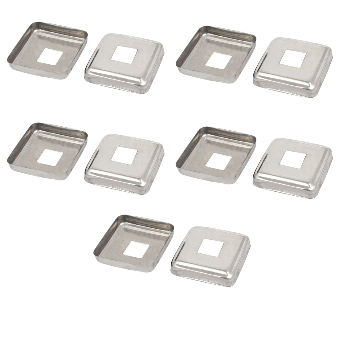 10pcs Ladder Handrail Hand Rail 22mm x 22mm Post Plate Cover 304 Stainless Steel