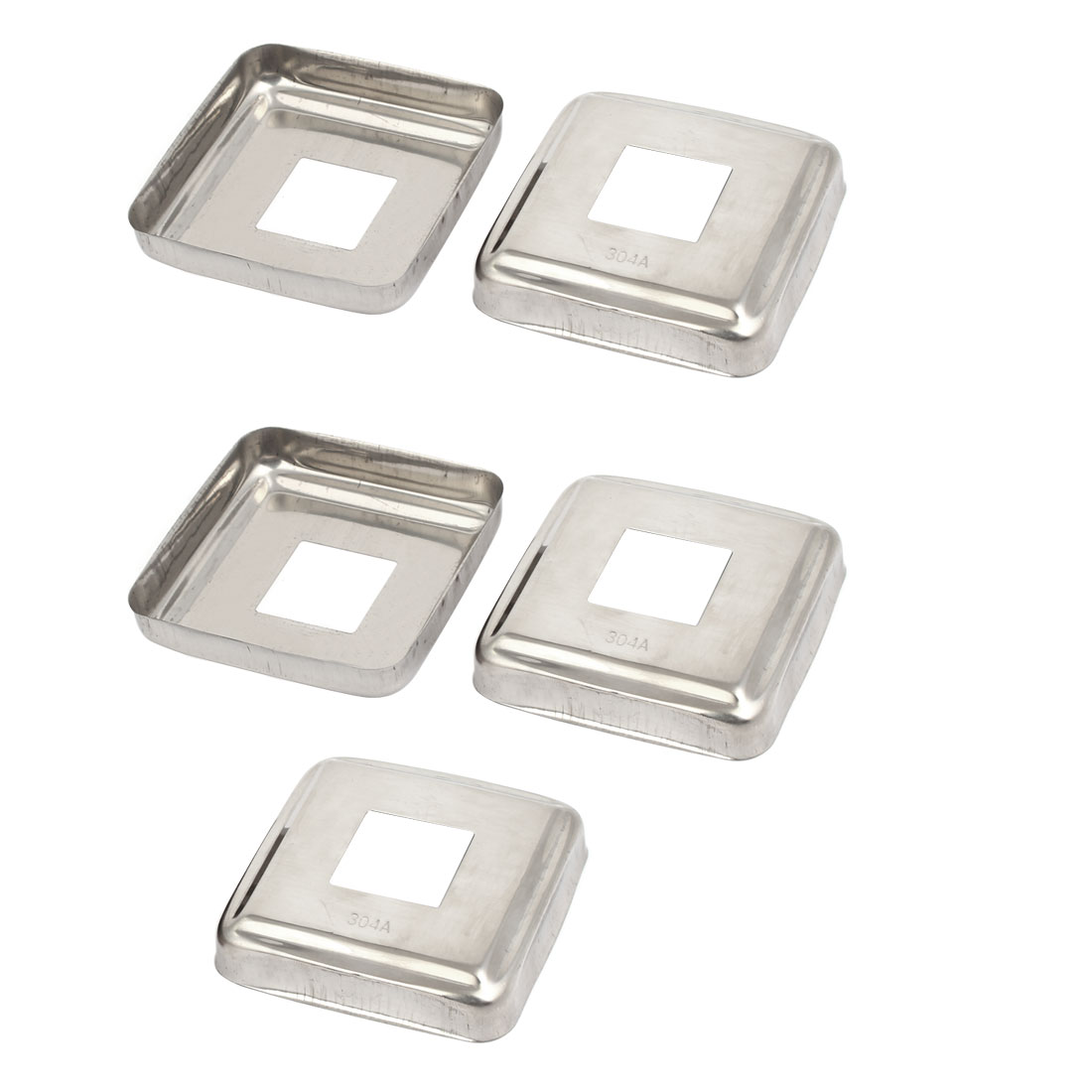 "5pcs Ladder Handrail Hand Rail 1"" x 1"" Post Plate Cover 304 Stainless Steel"
