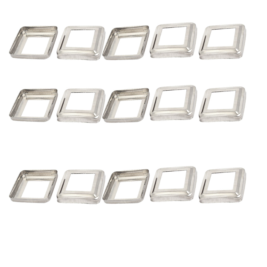 "15pcs Ladder Handrail Hand Rail 2"" x 2"" Post Plate Cover 304 Stainless Steel"