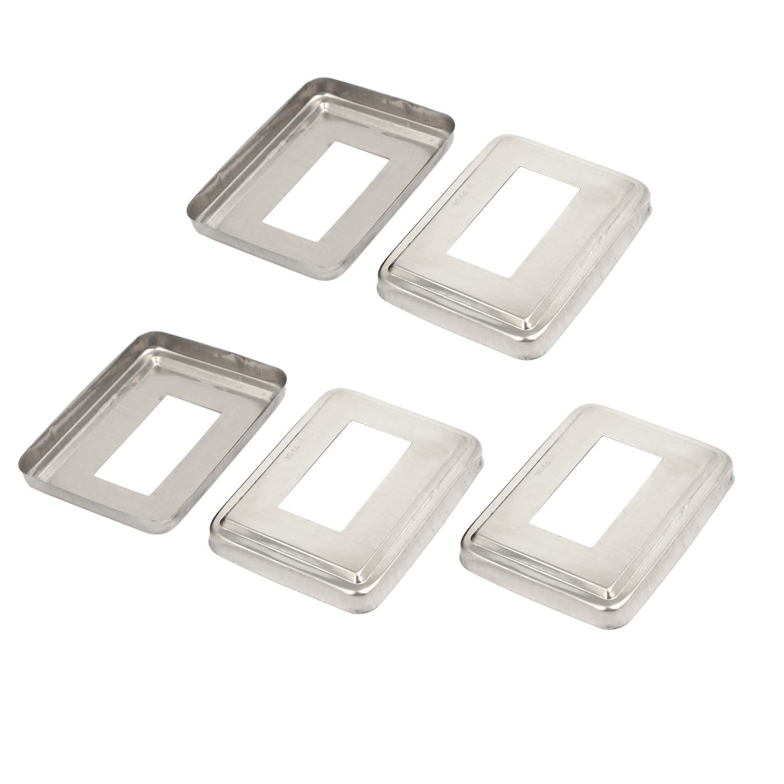 5pcs Ladder Handrail Hand Rail 60mm x 30mm Post Plate Cover 304 Stainless Steel