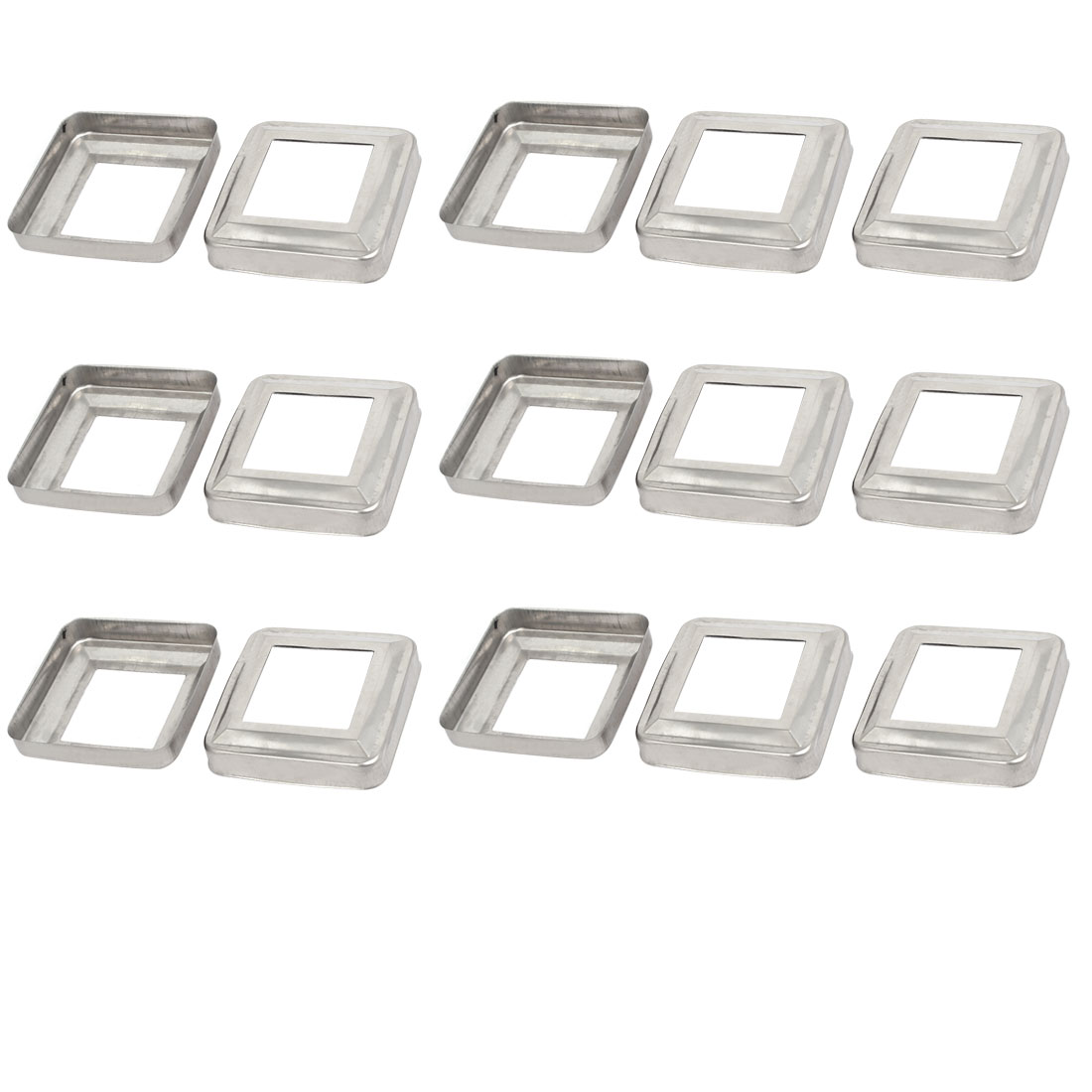 15pcs Ladder Handrail Hand Rail 40mm x 40mm Post Plate Cover 304 Stainless Steel