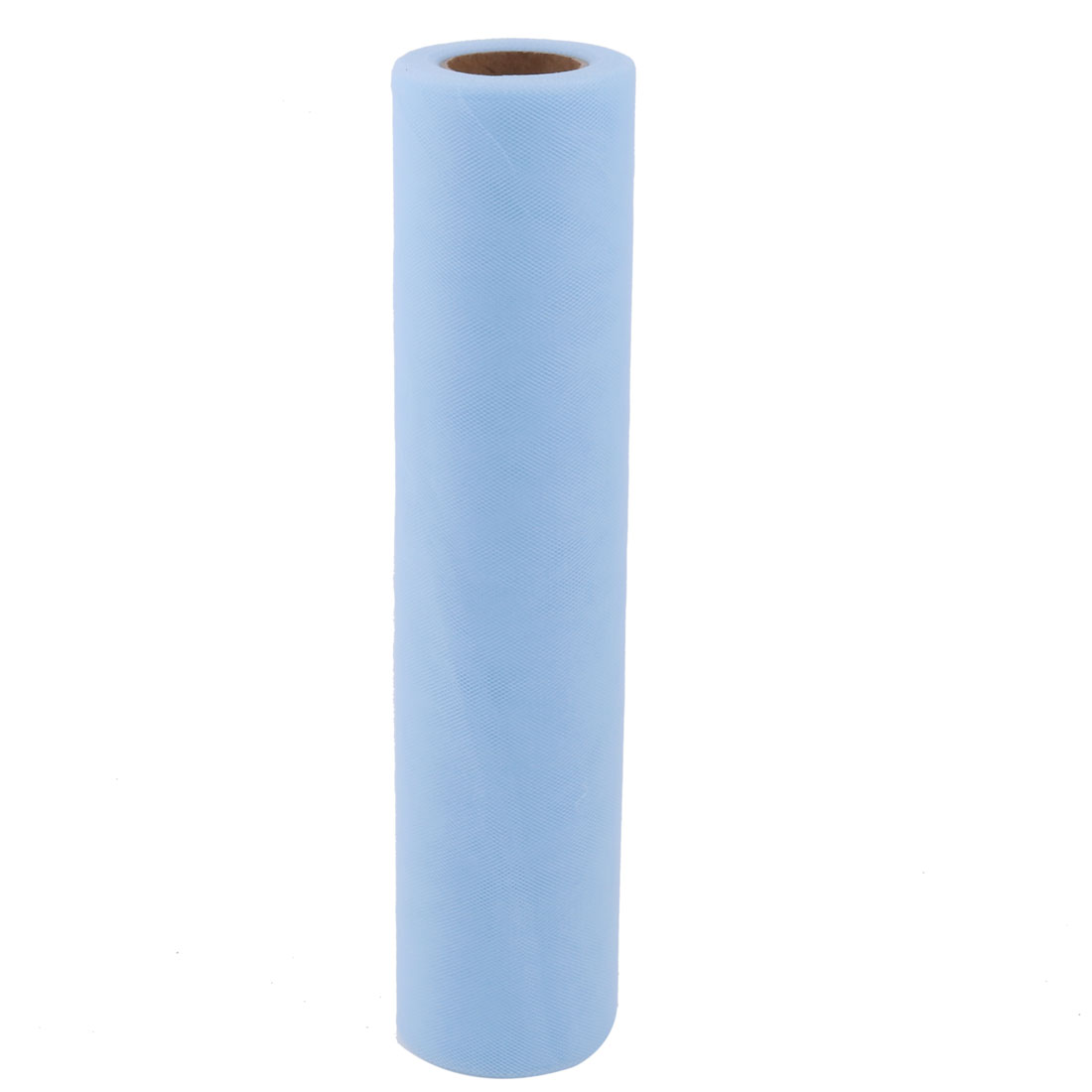 Bride Polyester Skirt Dress Sewing DIY Ornament Tulle Spool Roll Light Blue 12 Inch x 25 Yards