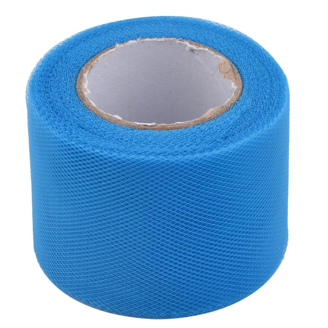 Festival Polyester Tutu Handmade Dress Decor Tulle Spool Roll Blue 2 Inch x 25 Yards