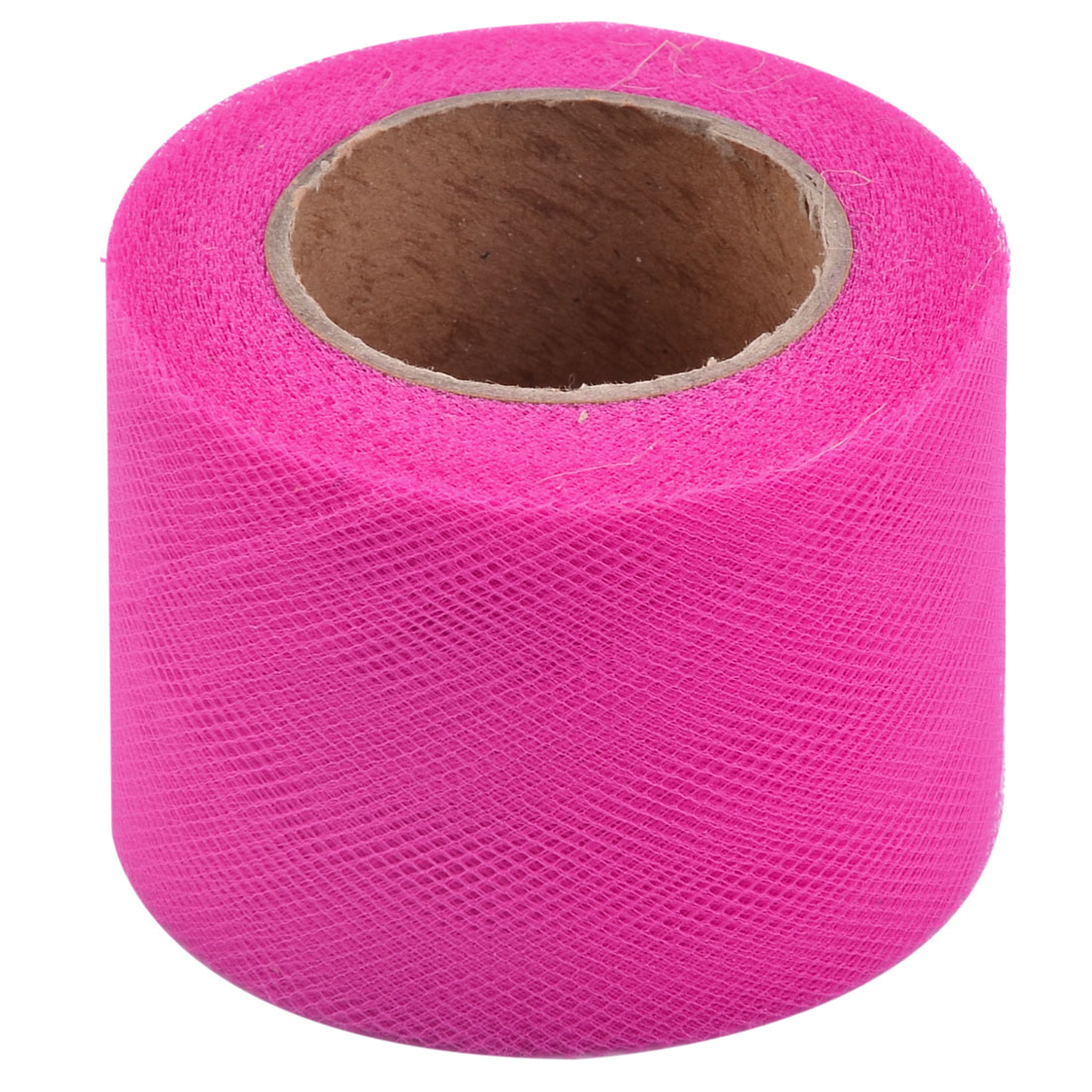 Wedding Feast Polyester Tutu Gift Handicraft Tulle Spool Roll Fuchsia 2 Inch x 25 Yards