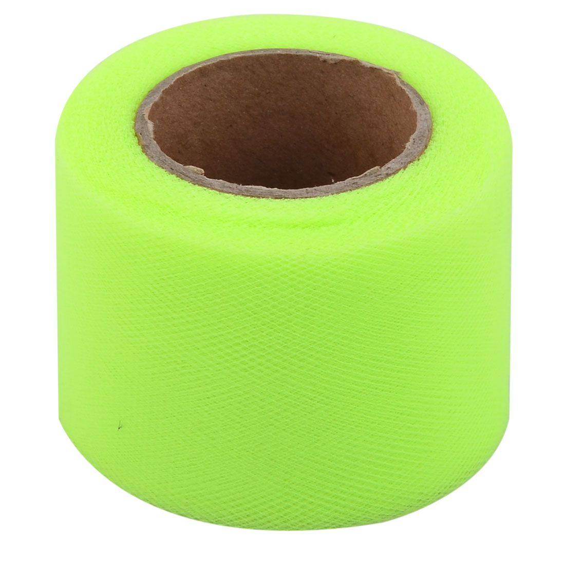 Wedding Feast Polyester Tutu Gift Handicraft Tulle Spool Roll Green Yellow 2 Inch x 25 Yards