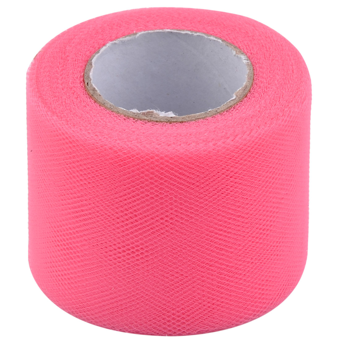 Wedding Feast Polyester Tutu Gift Handicraft Tulle Spool Roll Hot Pink 2 Inch x 25 Yards