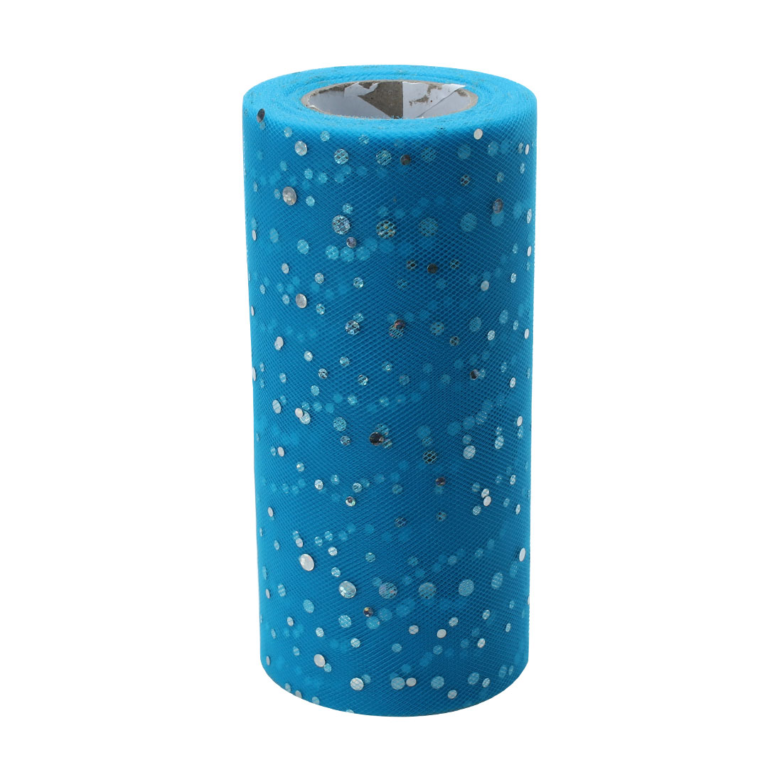Wedding Polyester Clothes Dress DIY Decoration Tulle Spool Roll Light Blue 6 Inch x 25 Yards