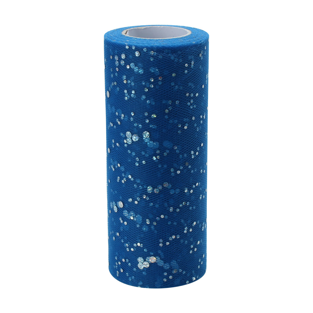 Wedding Polyester Clothes Dress DIY Decoration Tulle Spool Roll Royal Blue 6 Inch x 25 Yards