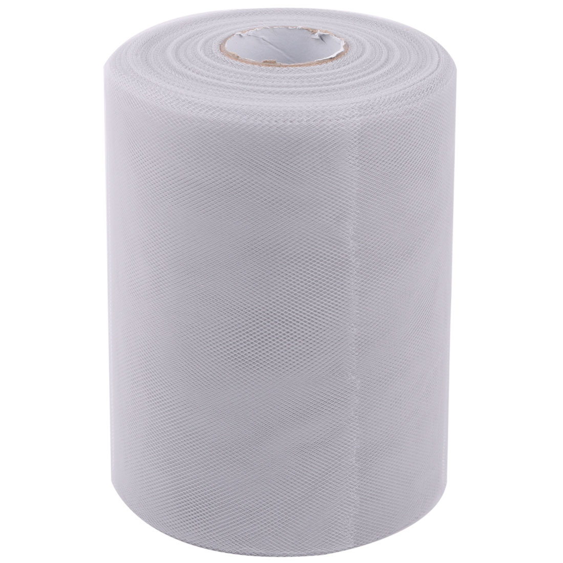 Party Gift DIY Dress Craft Decor Tulle Spool Roll Light Gray 6 Inch x 100 Yards