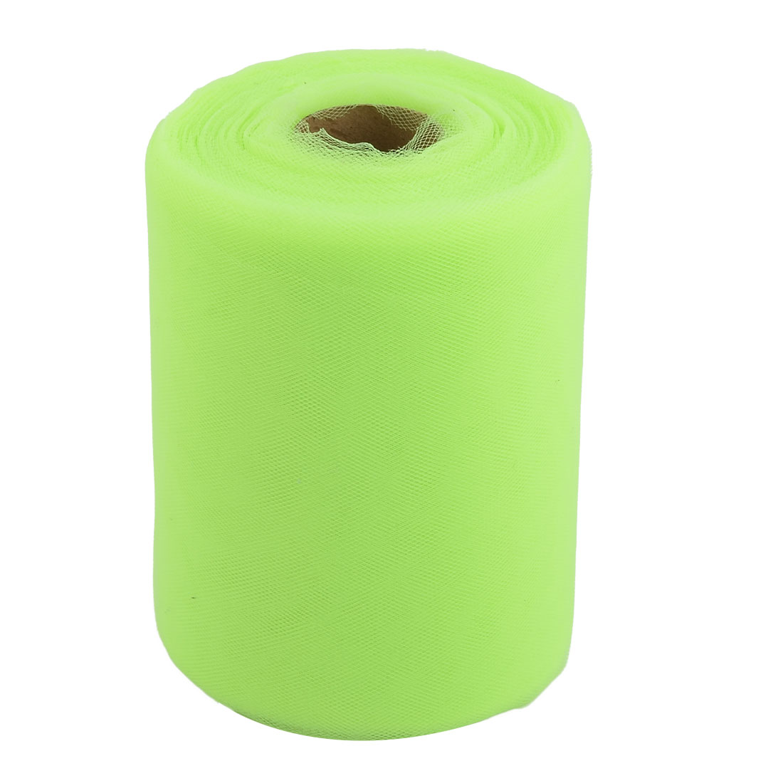 Home Polyester Tutu Gift Packing Ornament Tulle Spool Roll Green Yellow 6 Inch x 100 Yards