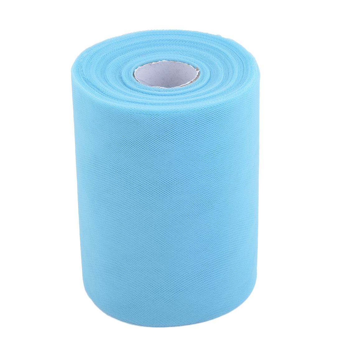 Home Polyester Tutu Gift Packing Ornament Tulle Spool Roll Light Blue 6 Inch x 100 Yards