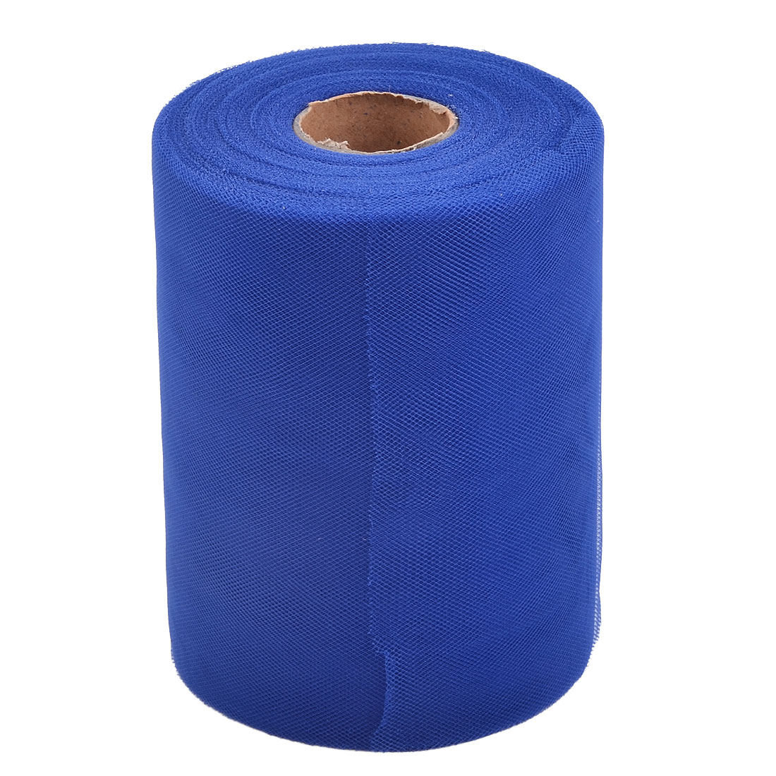 Home Polyester Tutu Gift Packing Ornament Tulle Spool Roll Royal Blue 6 Inch x 100 Yards