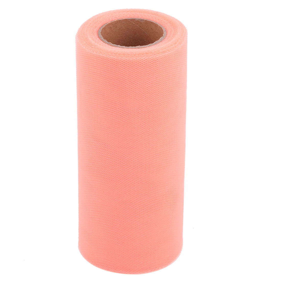 Banquet Polyester Craft Sewing Wedding Dress Tulle Spool Roll Coral Pink 6 Inch x 25 Yards