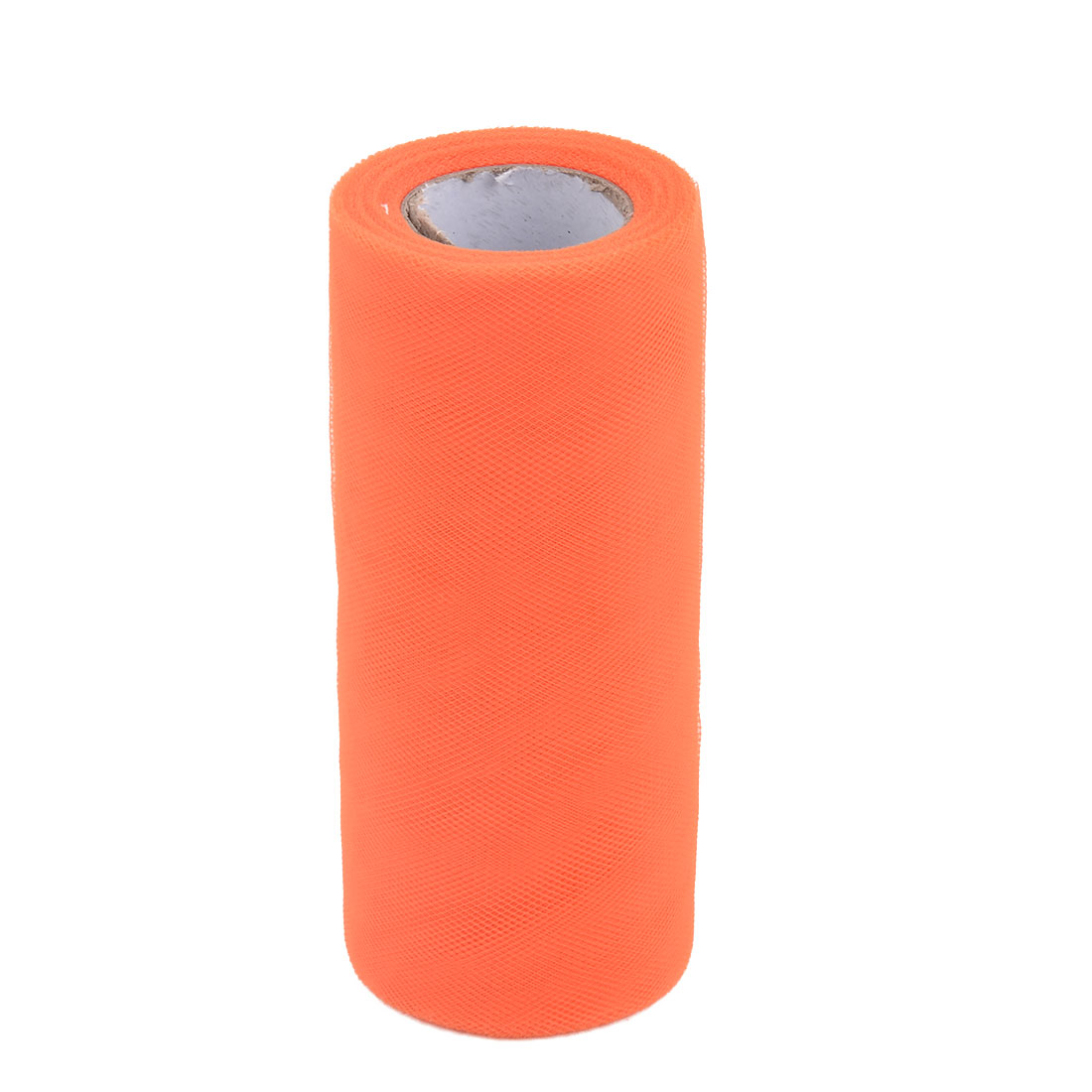 Wedding Gift Polyester DIY Dress Tutu Decor Tulle Spool Roll Orange 6 Inch x 25 Yards
