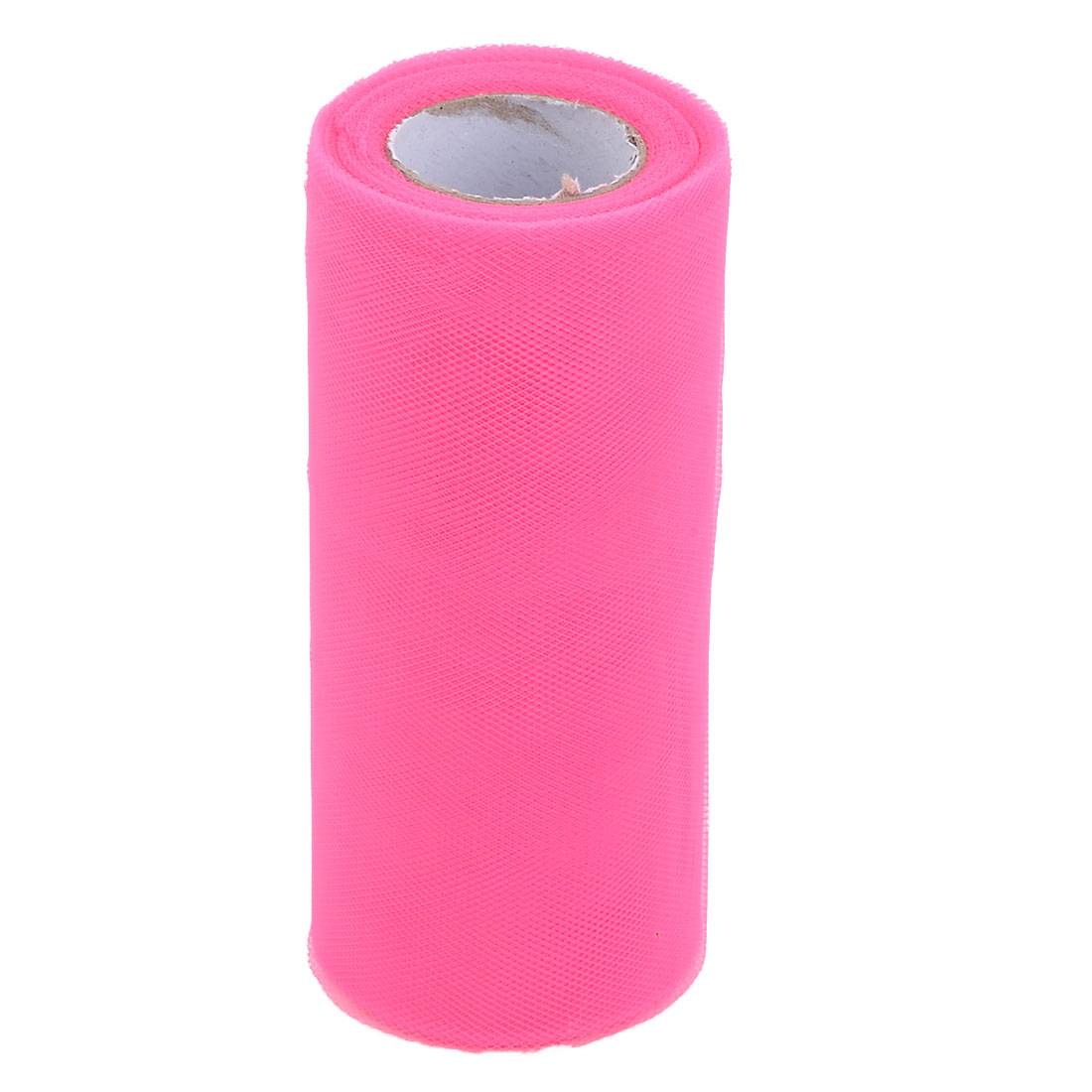 Banquet Polyester Craft Sewing Wedding Dress Tulle Spool Roll Hot Pink 6 Inch x 25 Yards