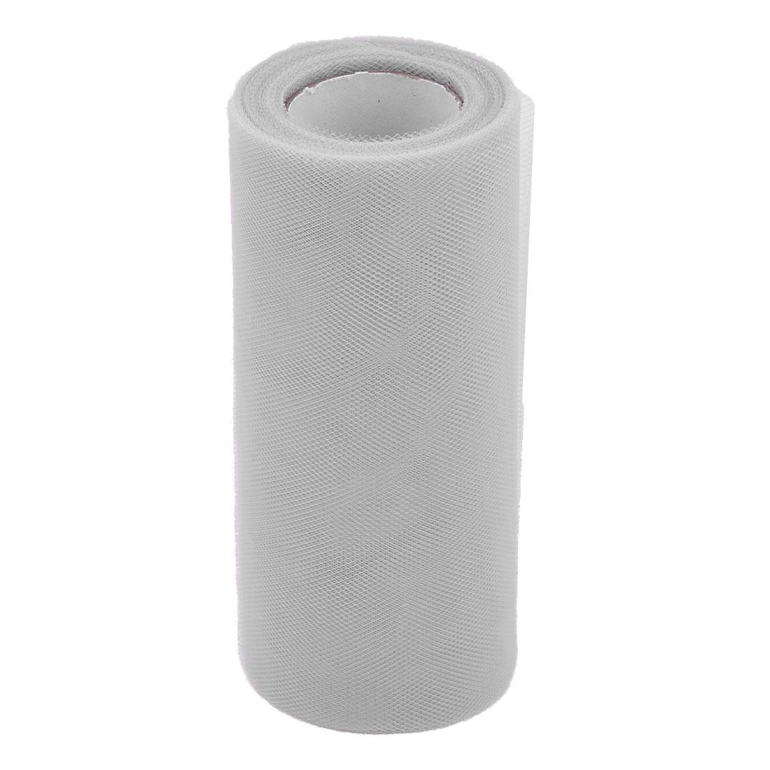 Wedding Gift Polyester DIY Dress Tutu Decor Tulle Spool Roll Light Gray 6 Inch x 25 Yards