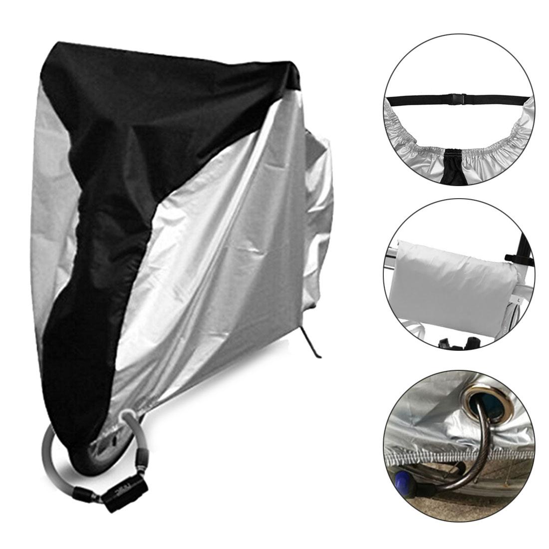 Outdoor Bicycle Bike Cover Rain Dust Protector Anti-UV Garage Storage XXXL Silve