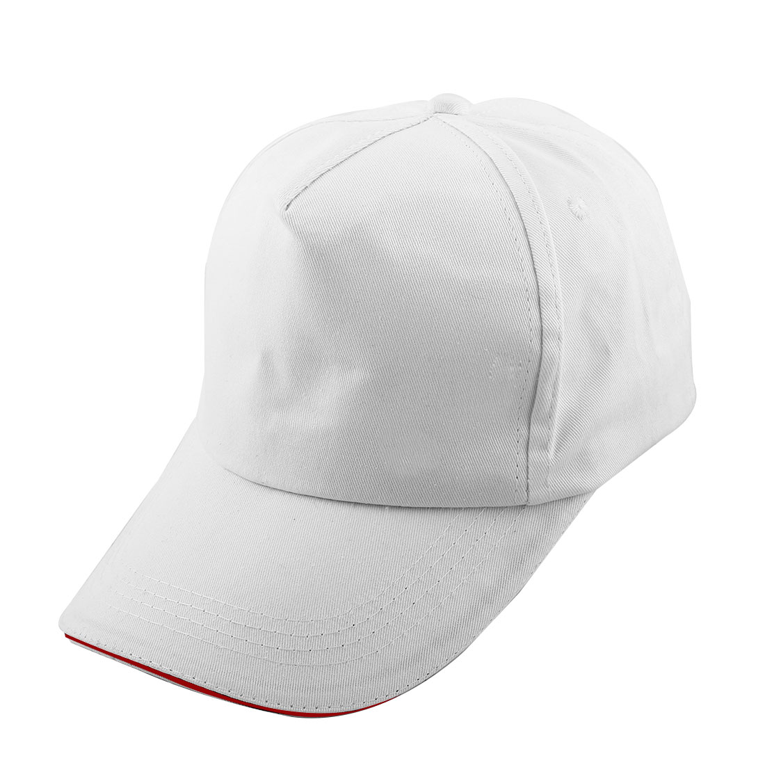 Outdoor Travel Cotton Blends 5 Panel Adjustable Loop Golf Baseball Cap Sports Hat White