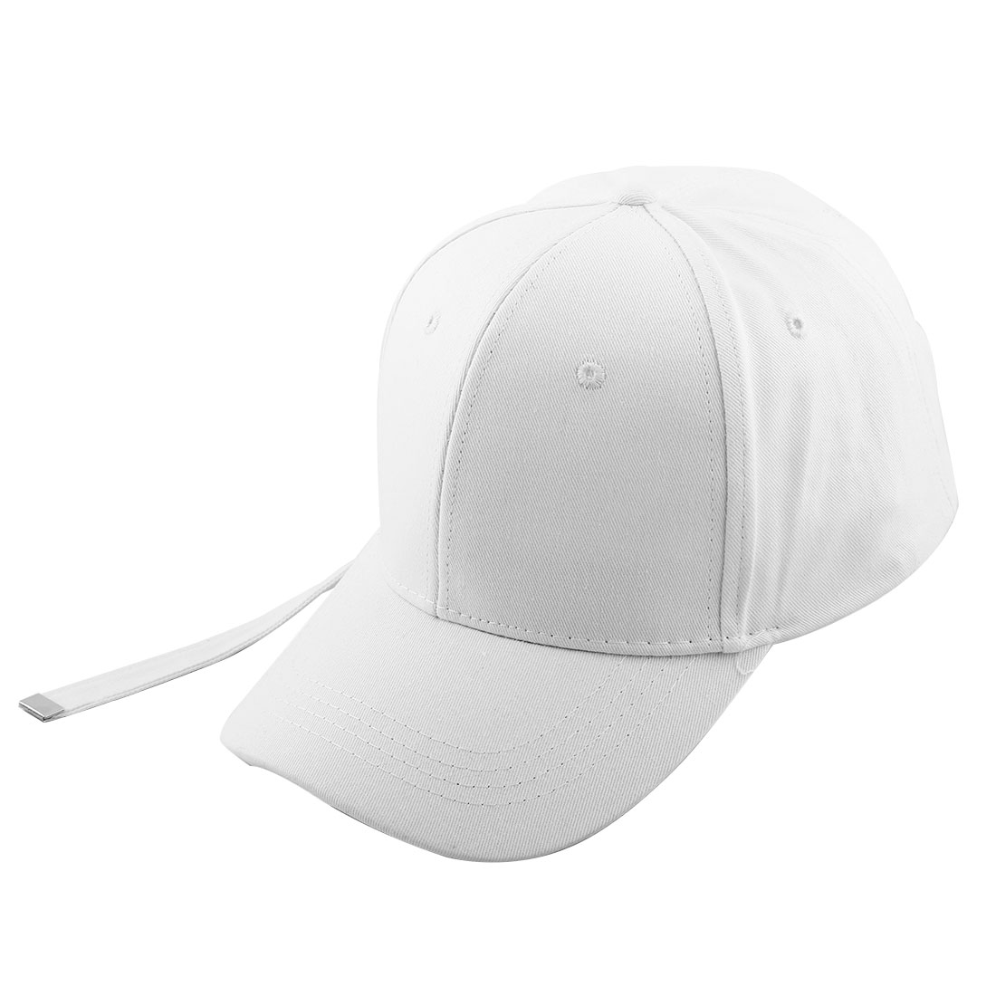 Spring Indoor Cotton Blends 6 Panel Adjustable Golf Baseball Cap Portable Snapback Hat White