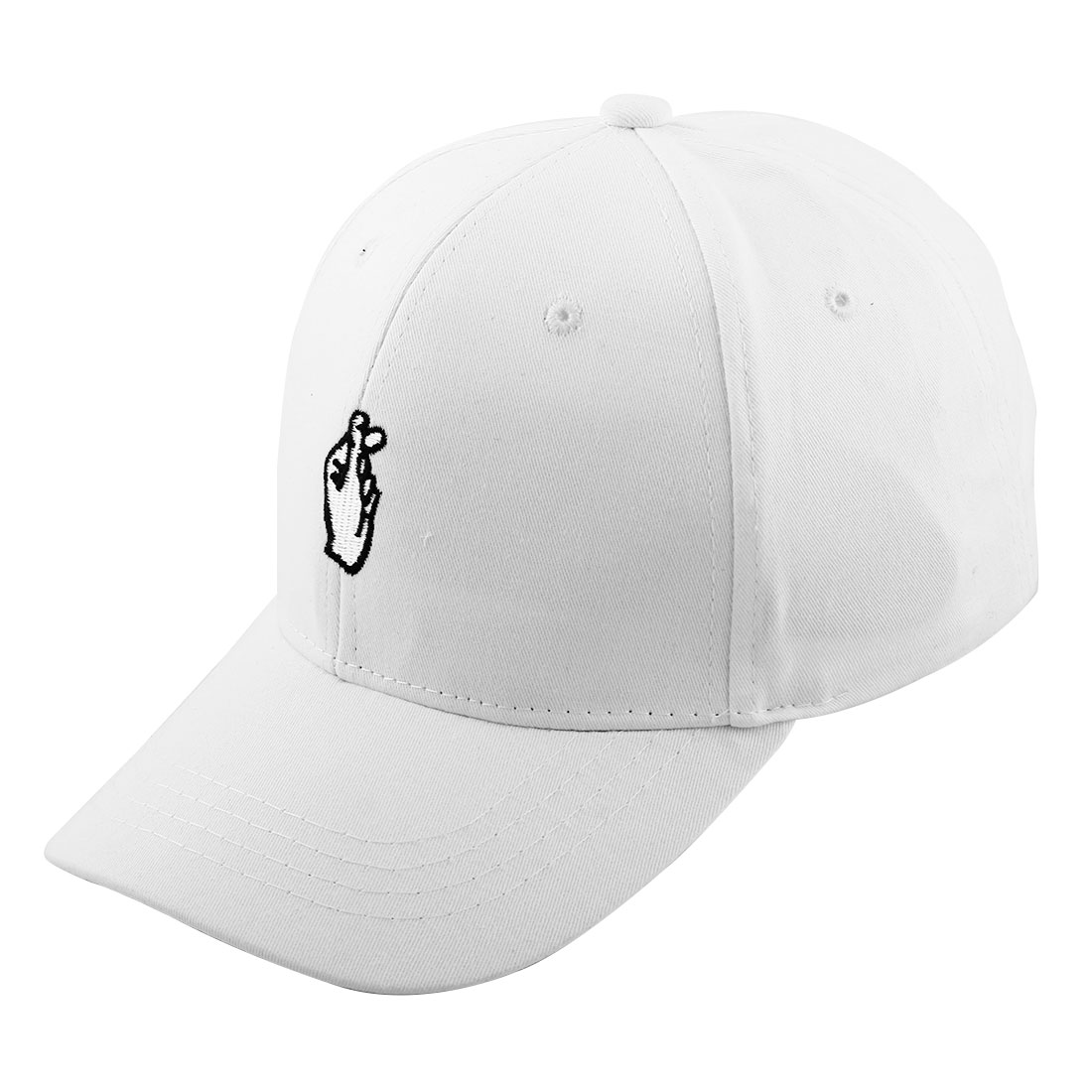 Unisex Cotton Blends Love Gestures Outdoor Tennis Adjustable Baseball Sun Visor Hat Cap White