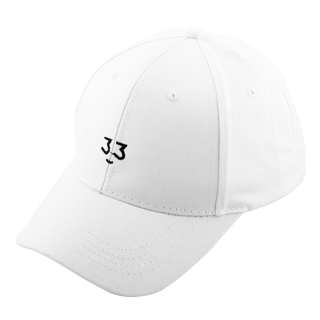 Spring Sports Cotton Blends 6 Panel Adjustable Loop Golf Baseball Cap Portable Snapback Hat White