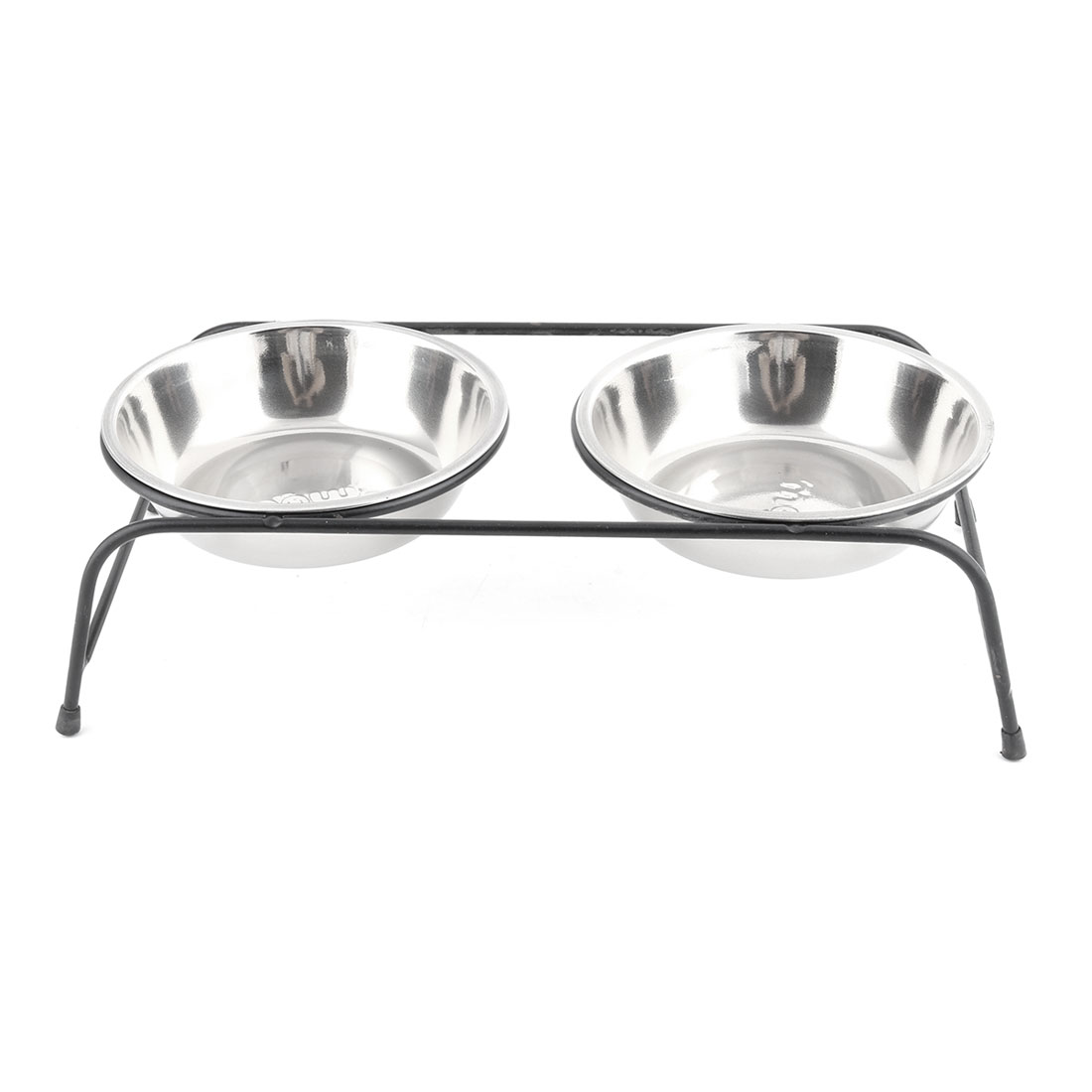 Family Metal Cat Dog Pet Food Water Feeding Container Bowl Rack Holder Stand Set