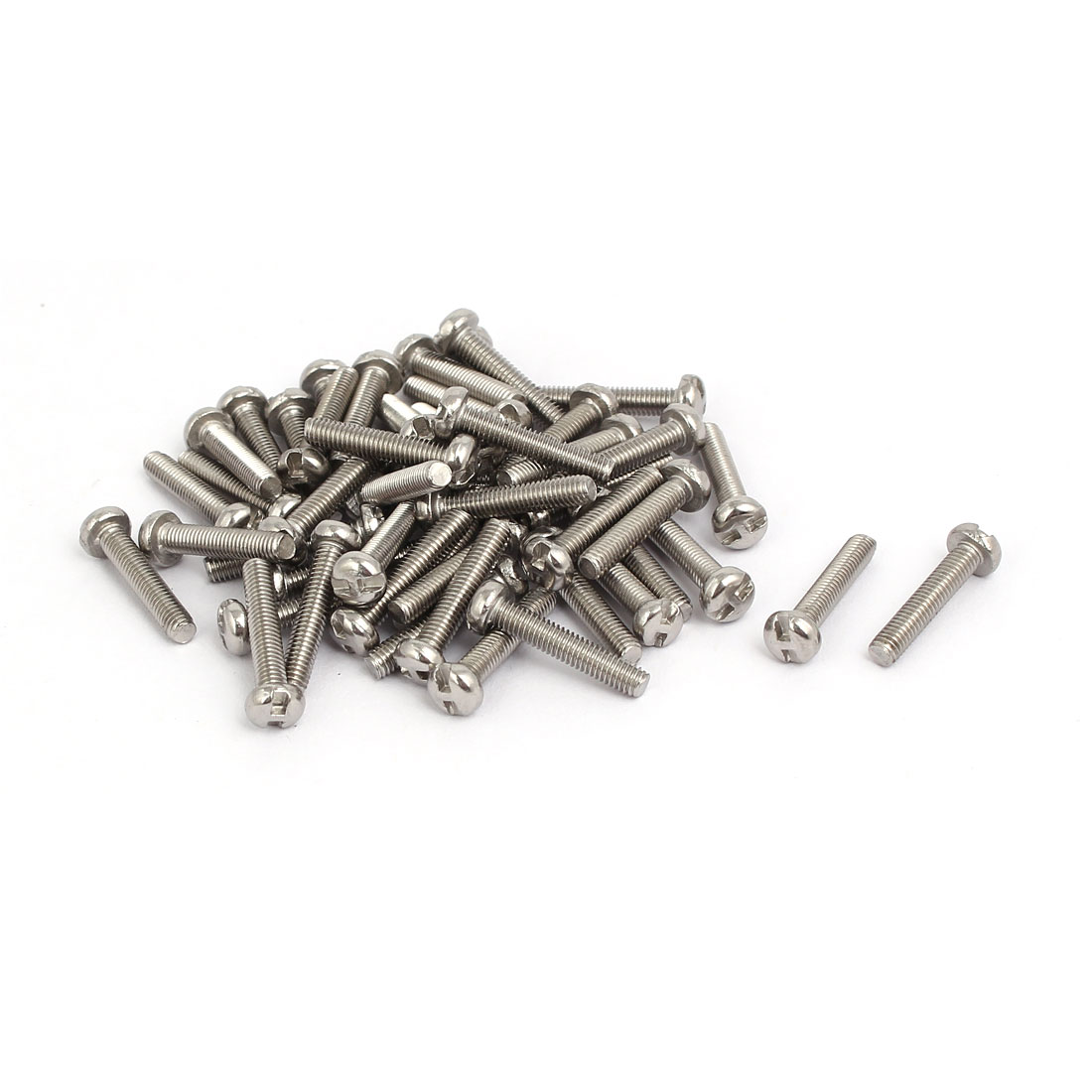 M3x16mm 304 Stainless Steel H-Type Drive Pan Head Tamper Proof Screws 50pcs