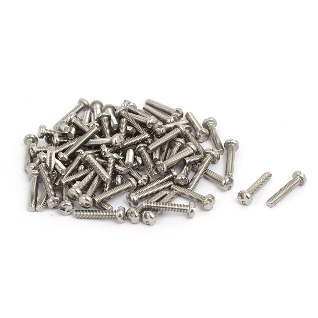 M3x16mm 304 Stainless Steel H-Type Drive Pan Head Tamper Proof Screws 80pcs