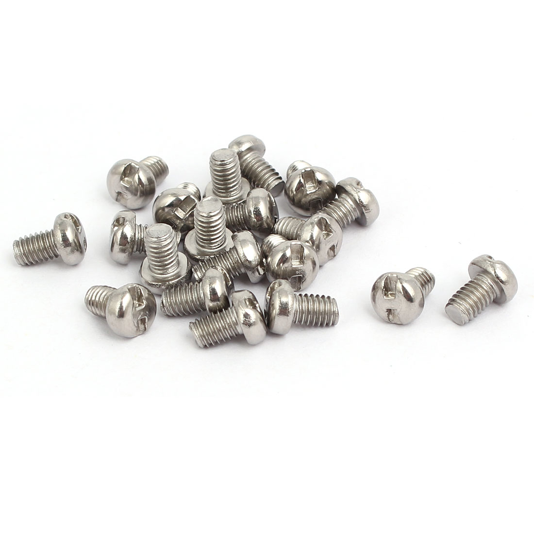M4x6mm 304 Stainless Steel H-Type Drive Pan Head Tamper Proof Screws 20pcs