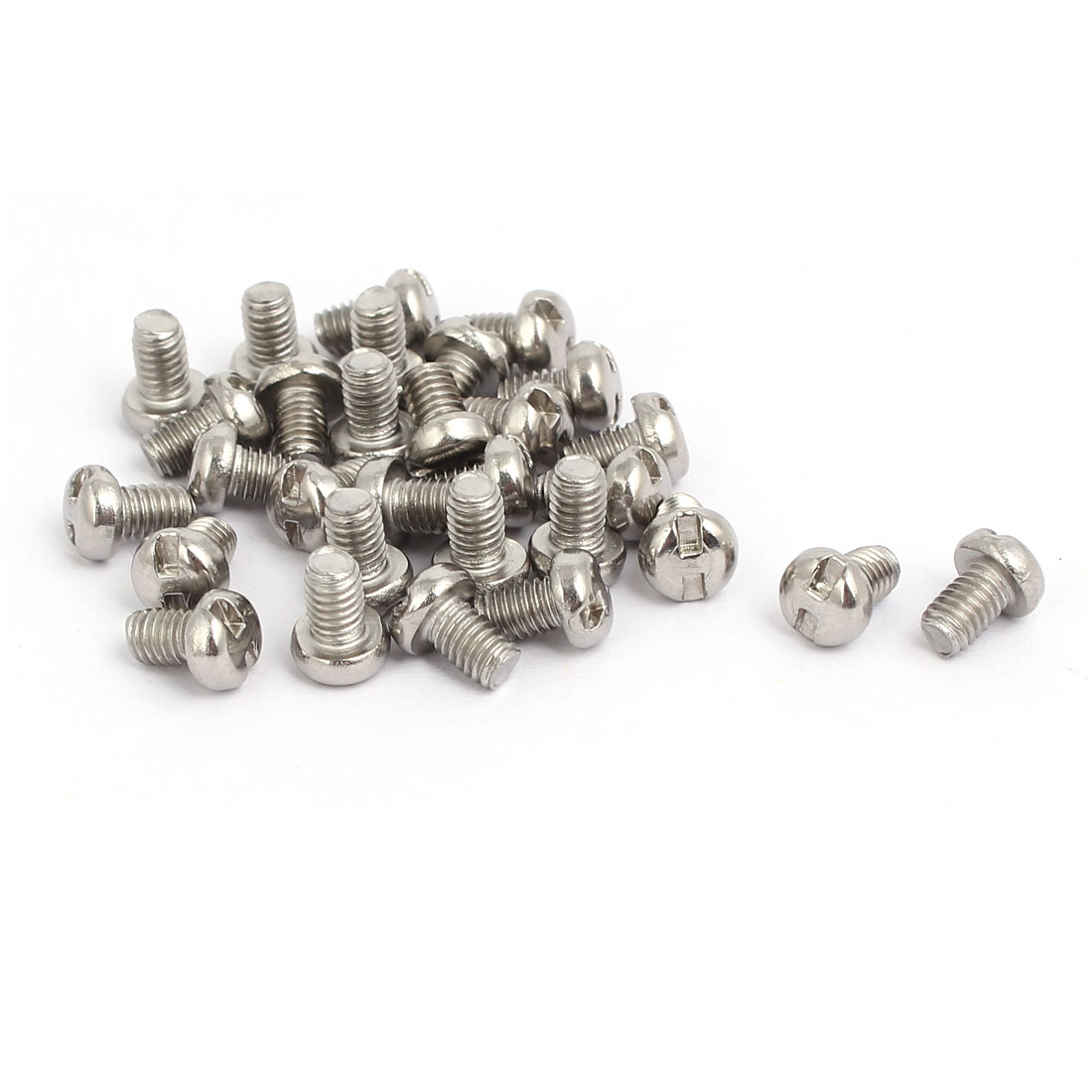 M4x6mm 304 Stainless Steel H-Type Drive Pan Head Tamper Proof Screws 30pcs