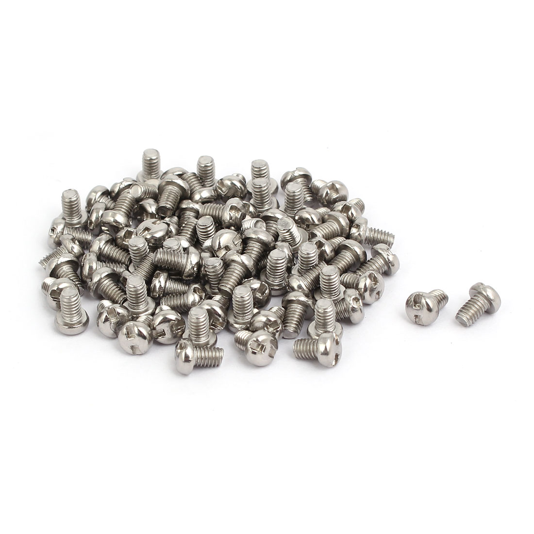 M4x6mm 304 Stainless Steel H-Type Drive Pan Head Tamper Proof Screws 80pcs