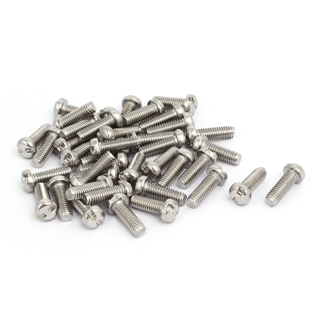 M4x12mm 304 Stainless Steel H-Type Drive Pan Head Tamper Proof Screws 40pcs