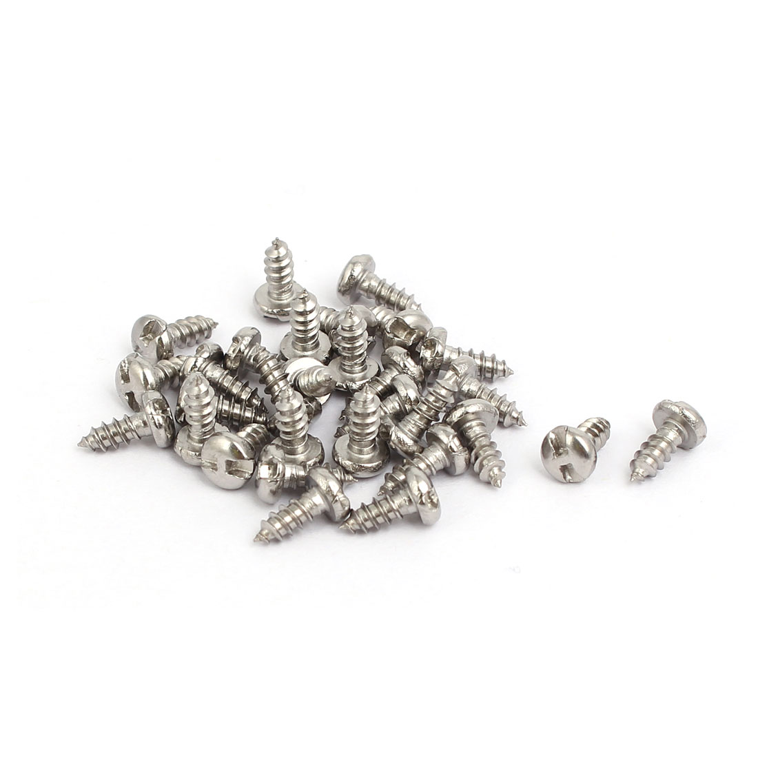 M2.9x6.5mm 304 Stainless Steel H-Type Pan Head Self Tapping Security Screw 30pcs