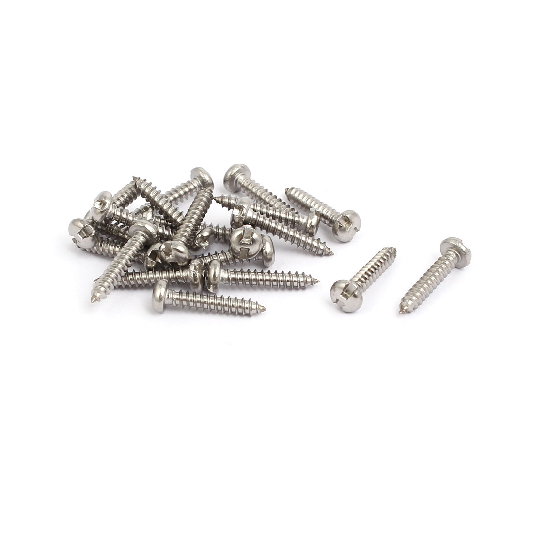 M2.9x16mm 304 Stainless Steel H-Type Pan Head Self Tapping Security Screw 20pcs