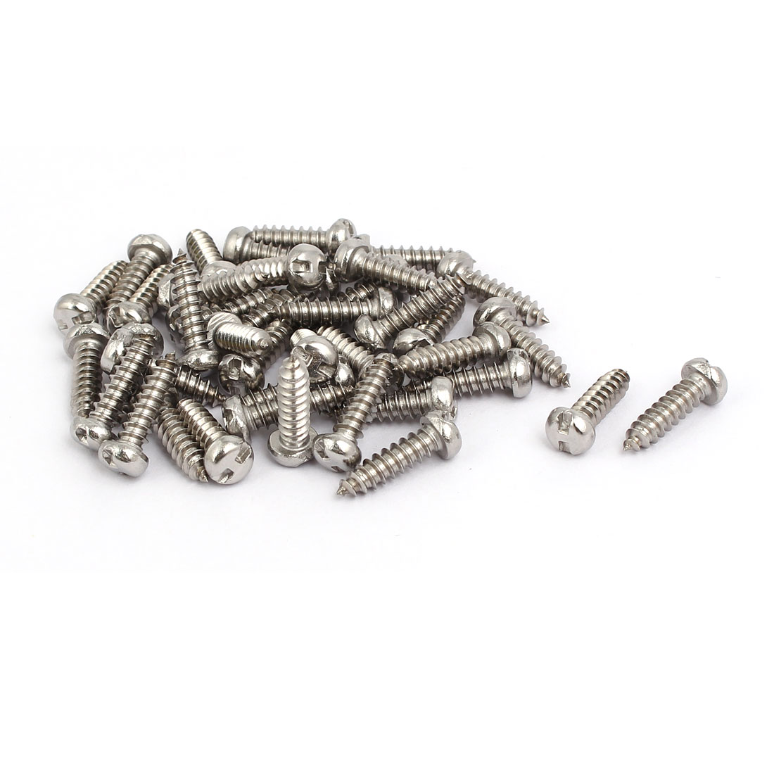 M4.2x16mm 304 Stainless Steel H-Type Pan Head Self Tapping Security Screw 40pcs