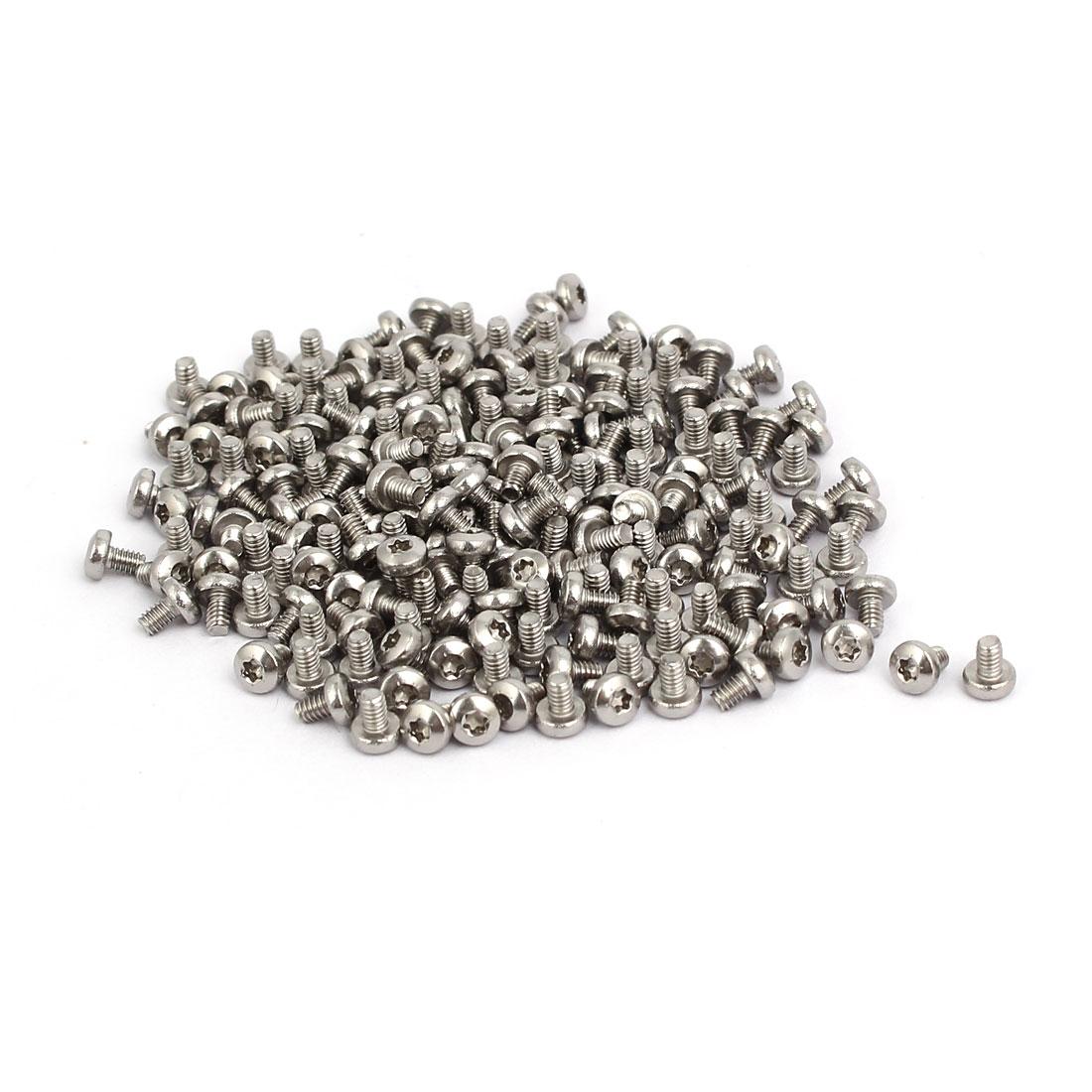 M2x3mm 304 Stainless Steel Button Head Torx Screws Fasteners 200pcs
