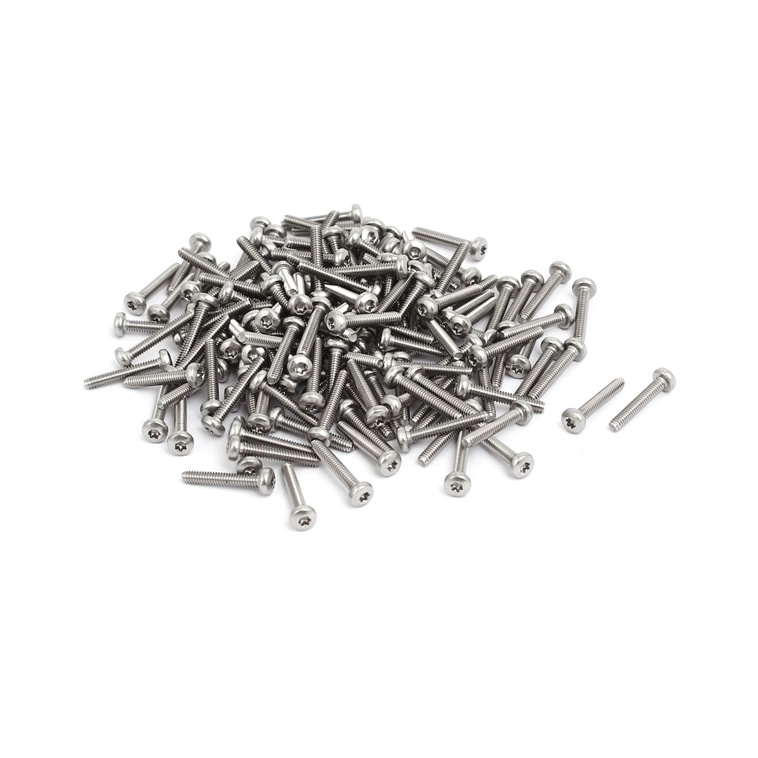 M2x12mm 304 Stainless Steel Button Head Torx Screws Bolts T6 Drive 150pcs