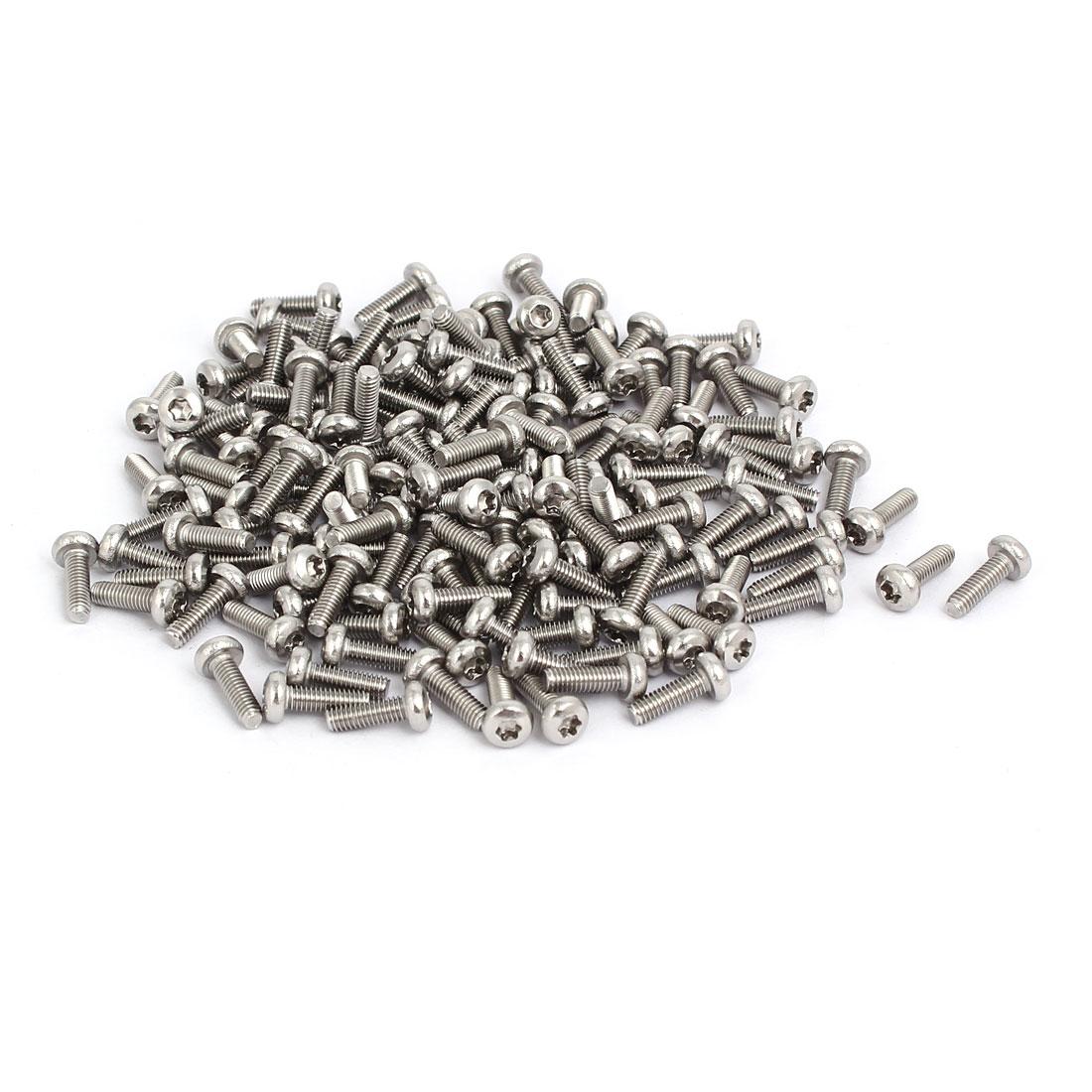 M2.5x8mm 304 Stainless Steel Button Head Torx Screws Fasteners 200pcs