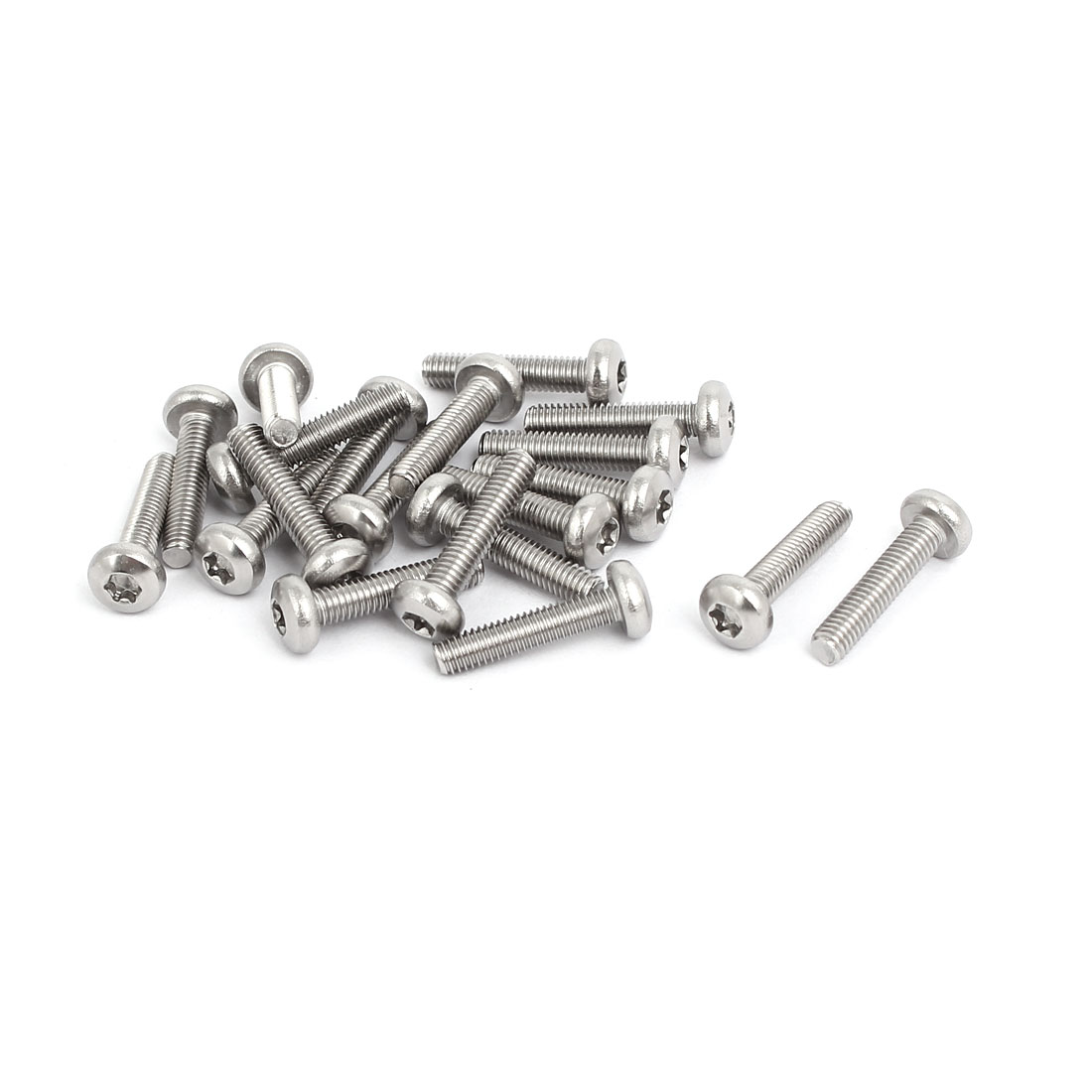 M3x14mm 304 Stainless Steel Button Head Torx Screws Bolts T10 Drive 20pcs