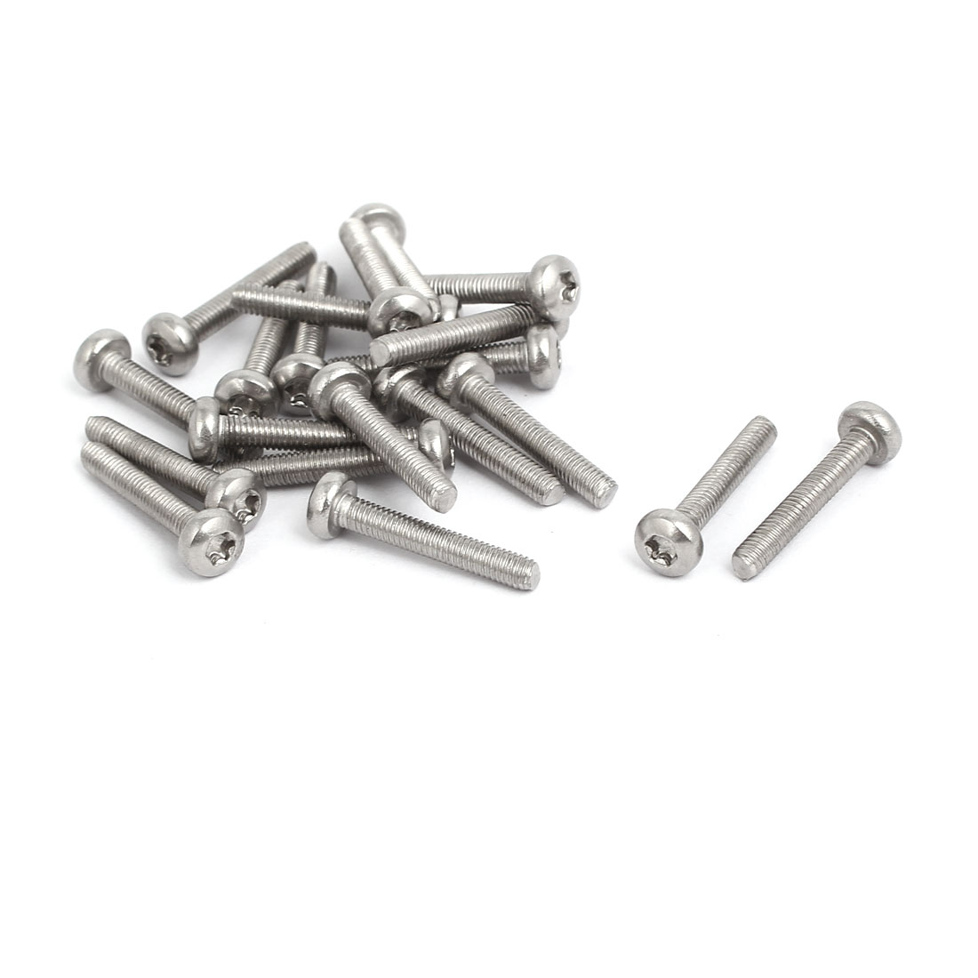 M3x18mm 304 Stainless Steel Button Head Torx Screws Bolts T10 Drive 20pcs