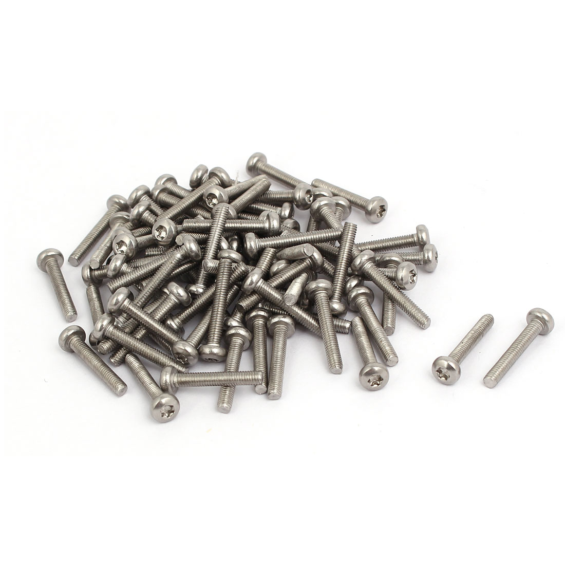 M3x18mm 304 Stainless Steel Button Head Torx Screws Fasteners 80pcs